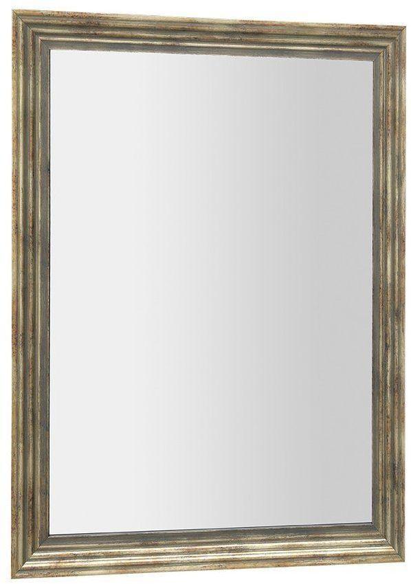 SAPHO - DEGAS zrkadlo v drevenom ráme 716x916mm, čierna/starobronz NL730
