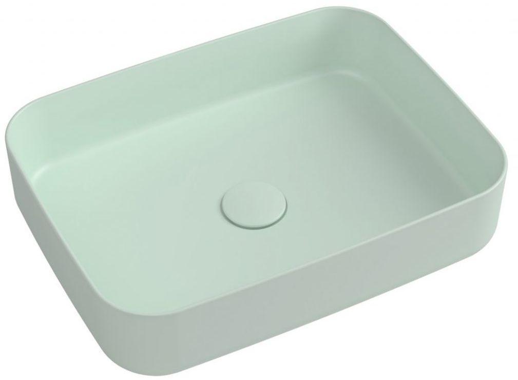 SAPHO - INFINITY RECTANGLE keramické umývadlo na dosku, 50x36 cm, Mint 10NF65050-2T