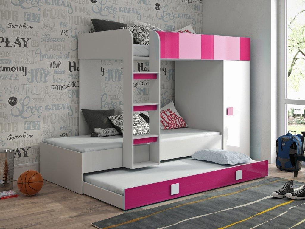 SB Multifunkčná posteľ Toledo 2 Farba: Biela