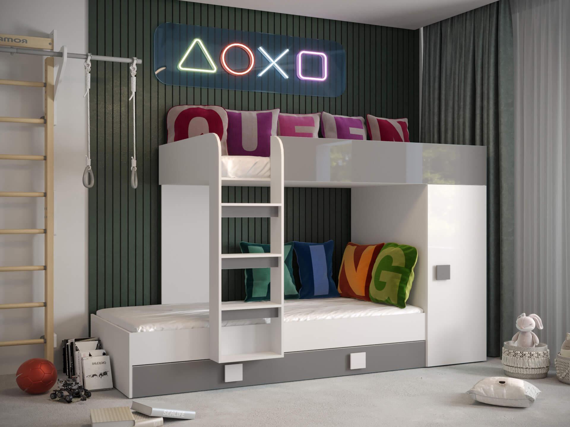 SB Multifunkčná posteľ Toledo 2 Farba: Tyrkysová