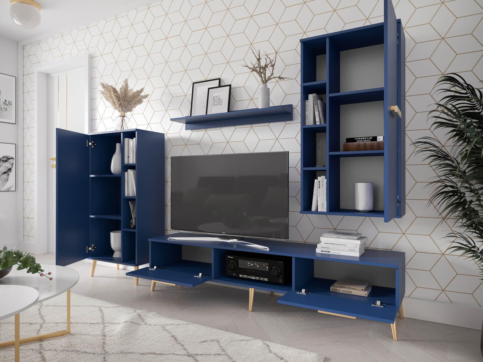 SB Obývacia stena Mareo modrá