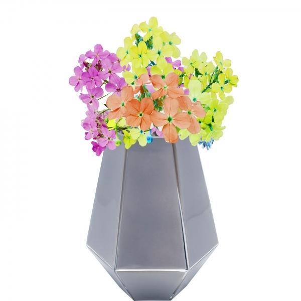 Šedá skleněná váza Art Pastel 21cm