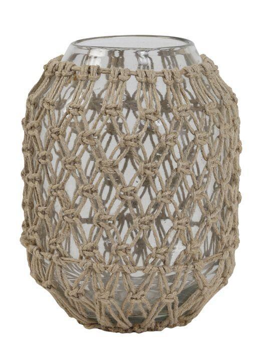 Šedomodrá keramická váza Potenza - Ø16*59 cm