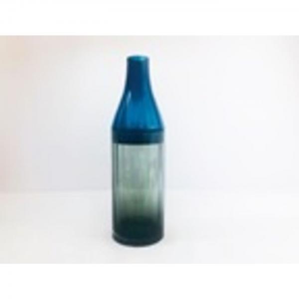 Šedomodrá skleněná váza Bicolore Acqua Drop 49cm