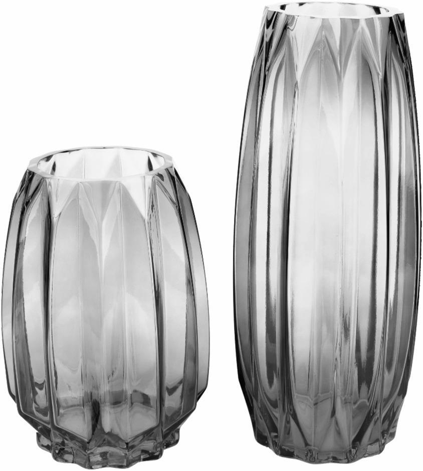 Vázy, set 2 ks, sivá/sivá, ELYSES TYP 2