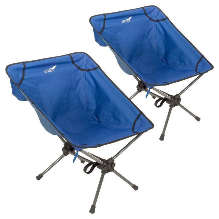 Set kempingových kresielok, modrý