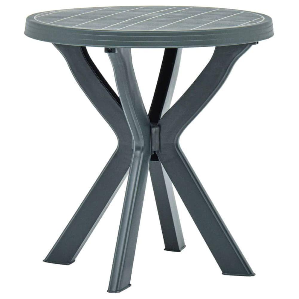 shumee Bistro stolík zelený priemer 70 cm plast