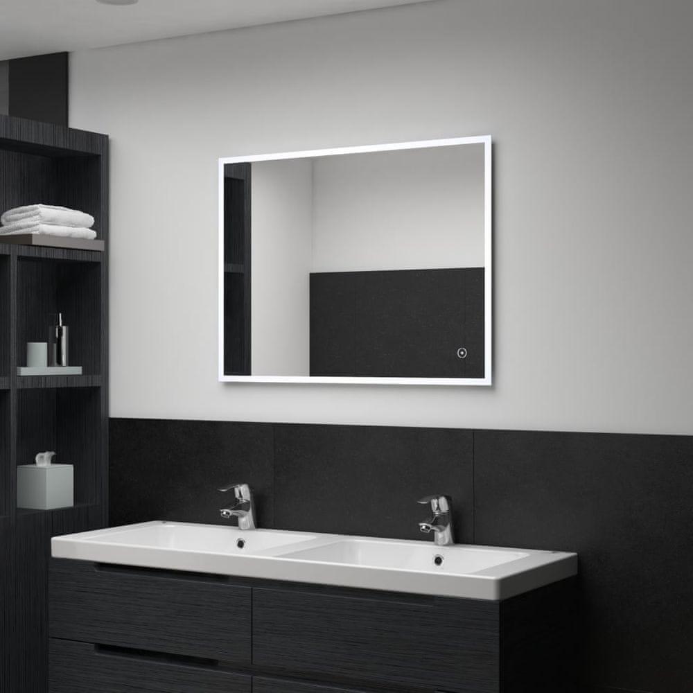 shumee Kúpeľňové LED nástenné zrkadlo s dotykovým snímačom 80x60 cm