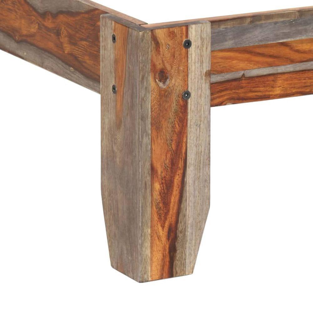 shumee Posteľný rám, drevený masív sheesham 140x200 cm