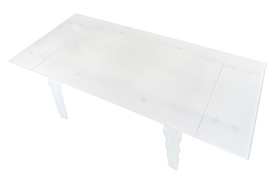 shumee Sklenený stôl VENDOME OPTI WHITE biely - 200/300