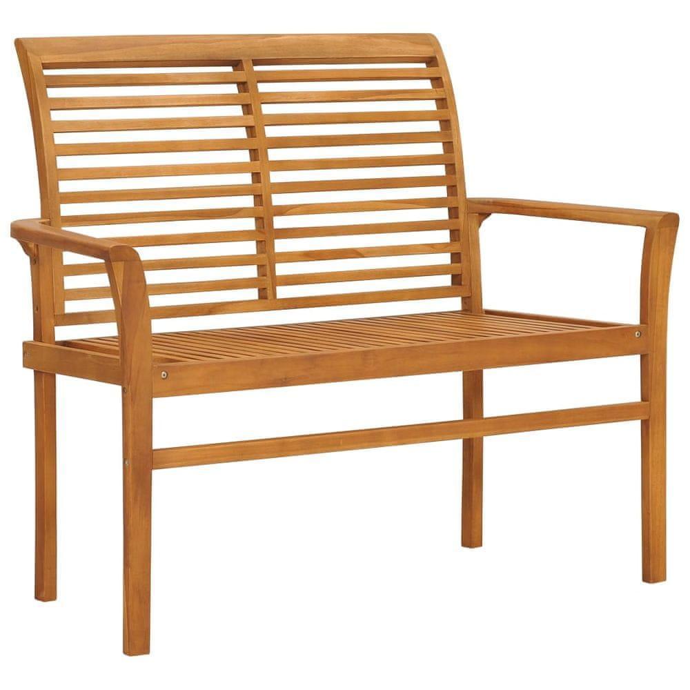 shumee Záhradná lavička 112 cm, tíkový masív