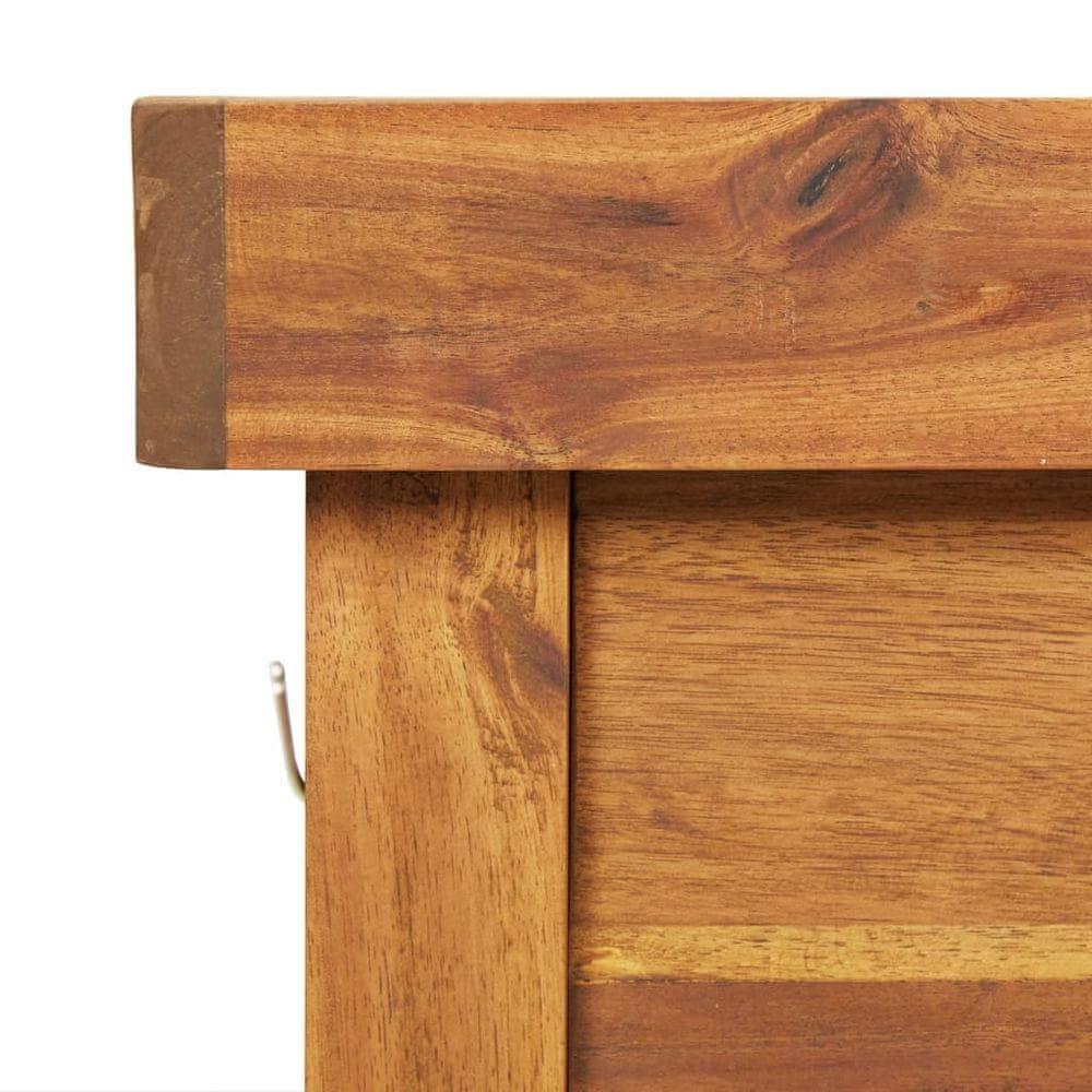 shumee Záhradný pracovný stôl s pozinkovaným povrchom akáciový masív