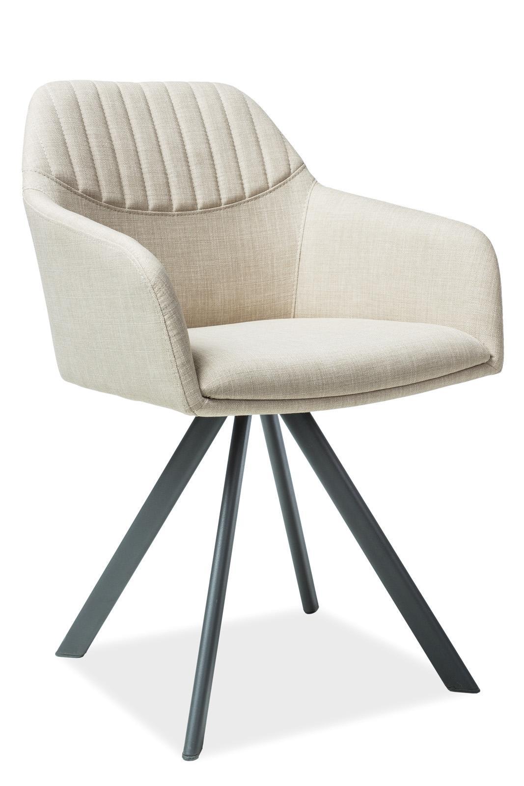 Signal Jedálenská stolička MILTON II Farba: Sivá