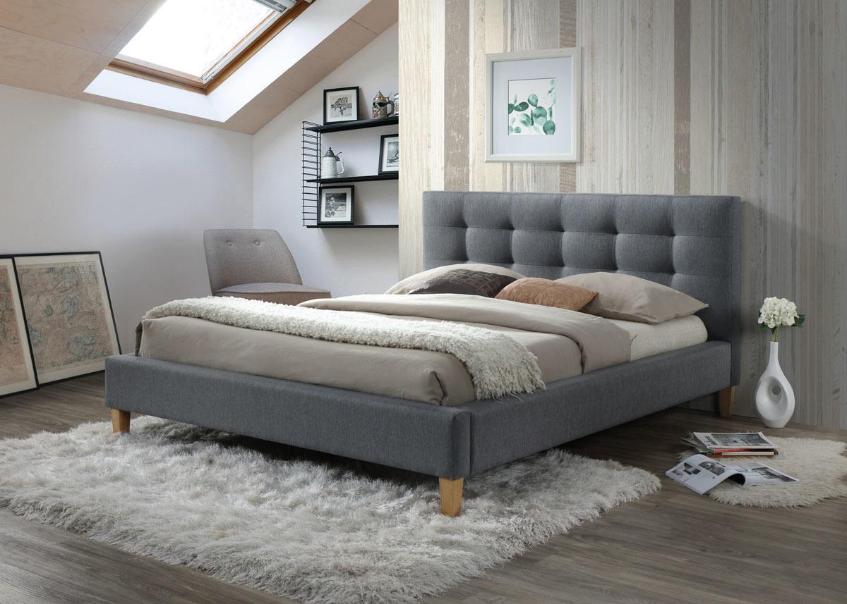Signal Manželská posteľ TEXAS Prevedenie: 140 x 200 cm, sivá