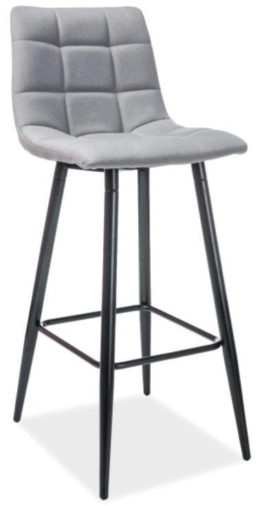 Signal Sivá barová stolička HOKER SPICE H-1