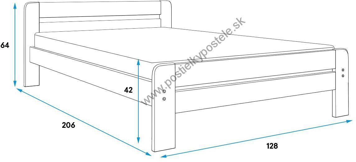 Široká posteľ DALLASO 120x200cm ČOKOLÁDA