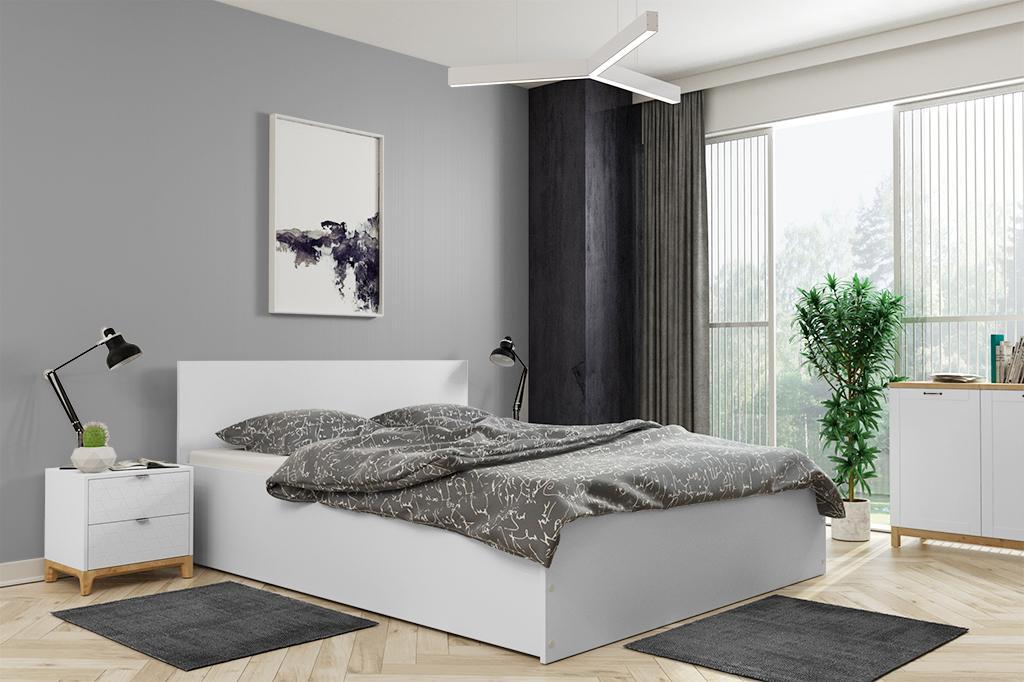 Široká posteľ (výklopná) PANAMAX 140x200cm BIELA