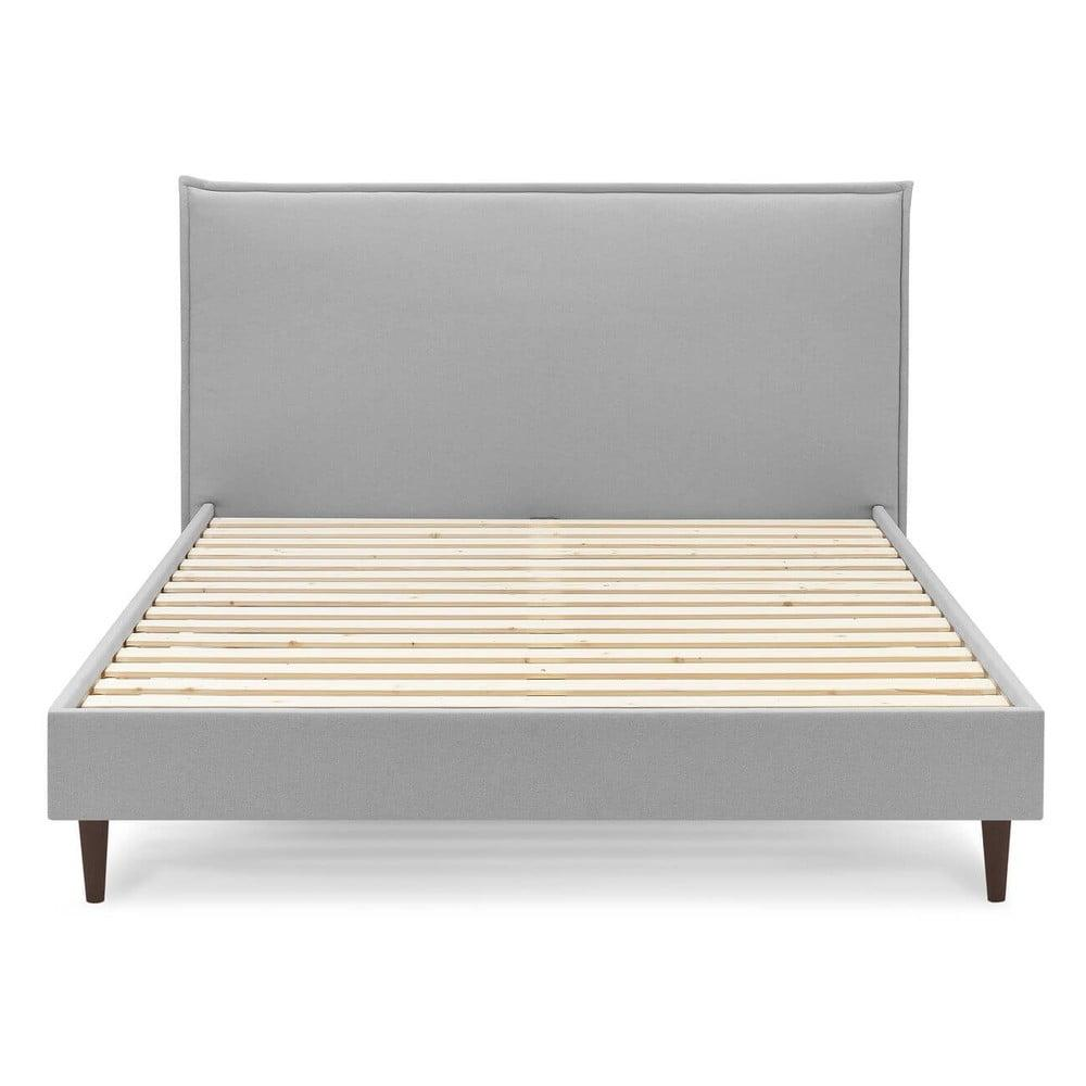 Sivá dvojlôžková posteľ Bobochic Paris Sary Dark, 180 x 200 cm