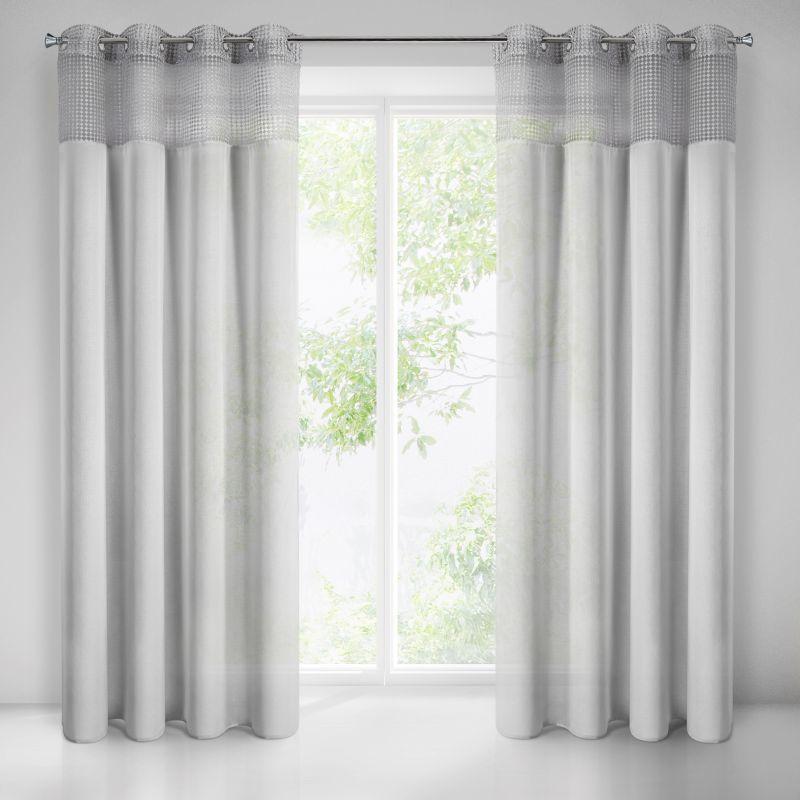 Sivá záclona na krúžkoch GRACE 140x250 cm
