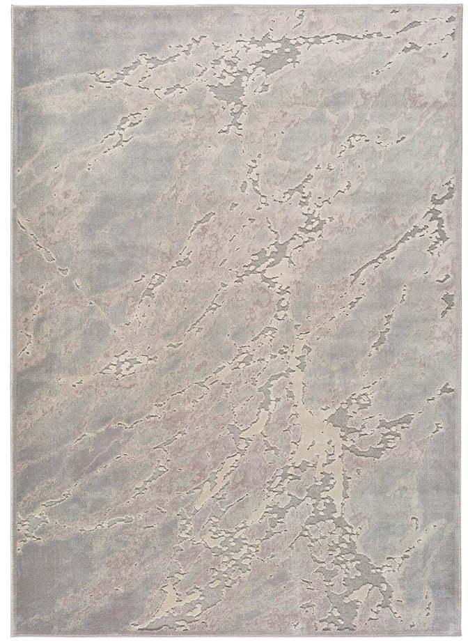 Sivo-béžový koberec z viskózy Universal Margot Marble, 60 x 110 cm