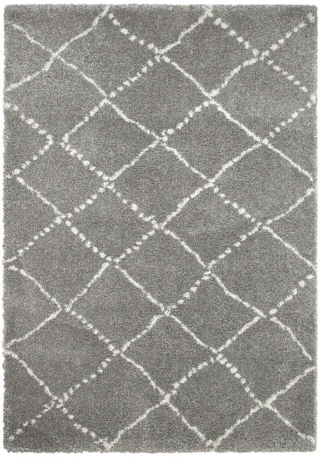 Sivo-krémový koberec Think Rugs Royal Nomadic Grey & Cream, 160 × 230 cm