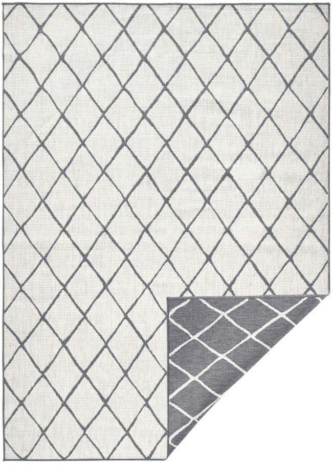 Sivo-krémový vonkajší koberec Bougari Malaga, 80 x 150 cm