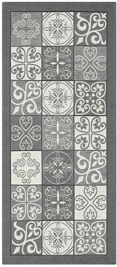 Sivý behúň FlooritaMaiolica Grigio, 55 x 115 cm