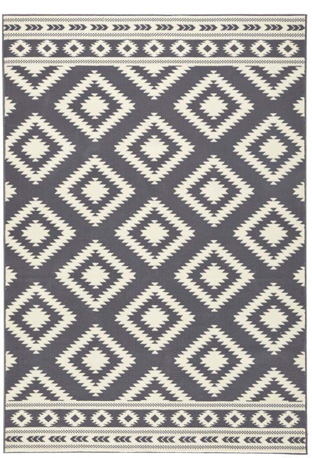 Sivý koberec Hanse Home Gloria Ethno, 80 x 150 cm