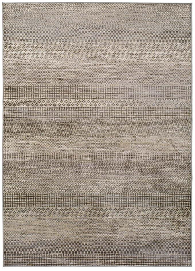 Sivý koberec z viskózy Universal Belga Beigriss, 70 x 110 cm