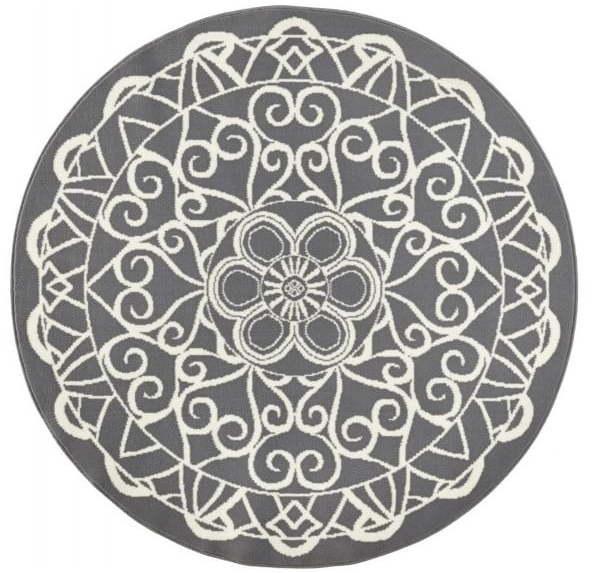 Sivý okrúhly koberec Zala Living Capri, ø 140 cm