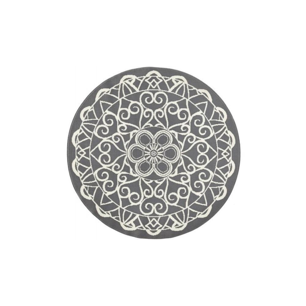 Sivý okrúhly koberec Zala Living Capri, ø 200 cm