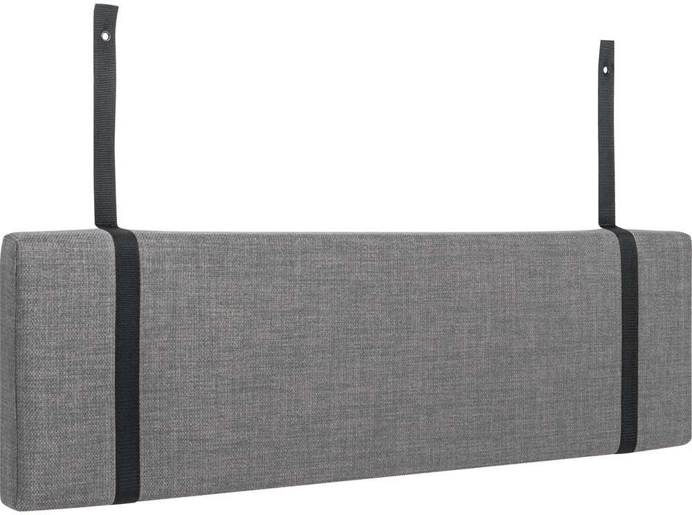 Sivý podhlavník k posteli Vox Concept, 114 cm