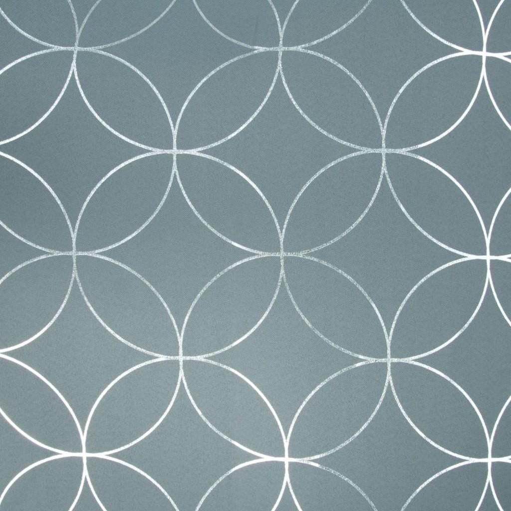 Škandinávske závesy so strieborným geometrickým vzorom so zavesením na kruhy