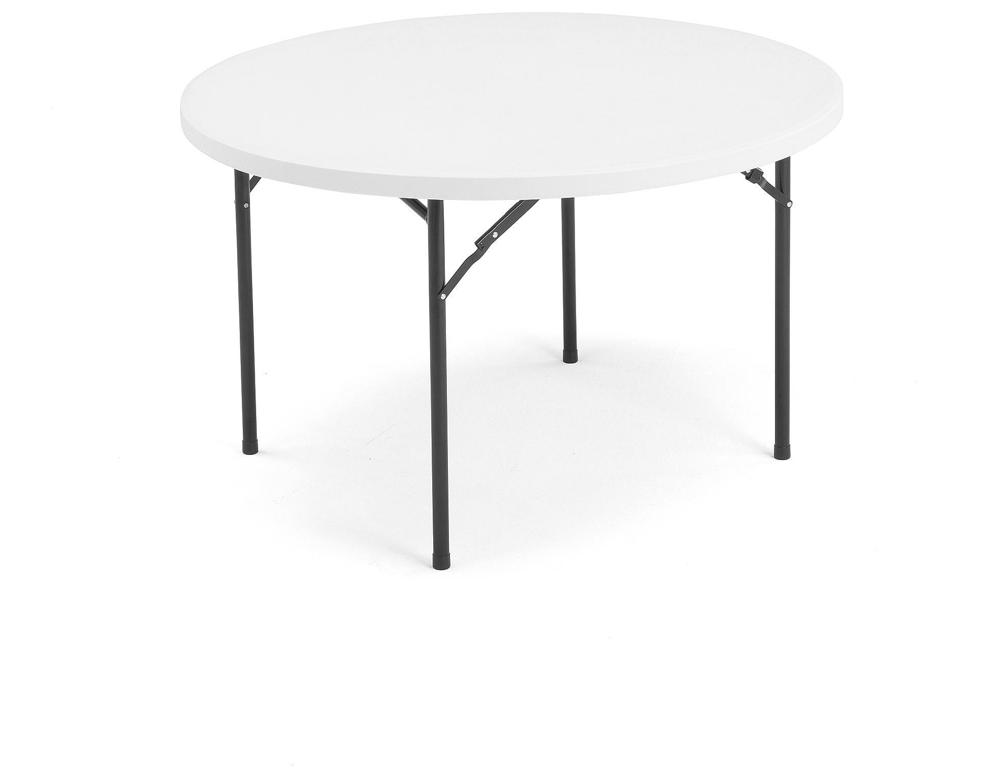 Skladací stôl Mika, Ø1220 mm, plast