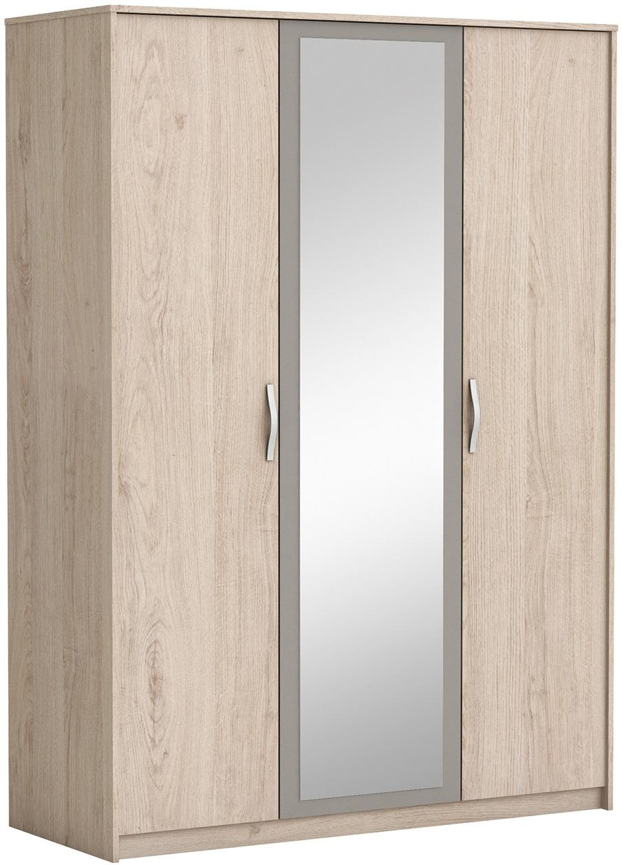 Skriňa 3-dverová GRAPHIC dub/béžová