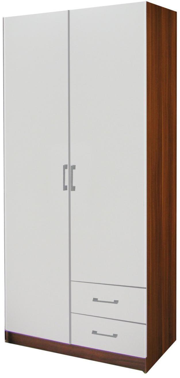 Skriňa ESO 2-dverová 61521 orech/biela