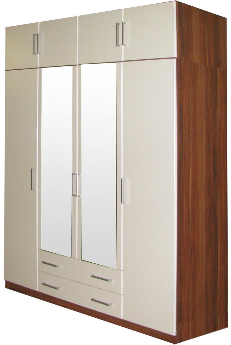 Skriňa ESO 4-dverová 61540 orech/biela