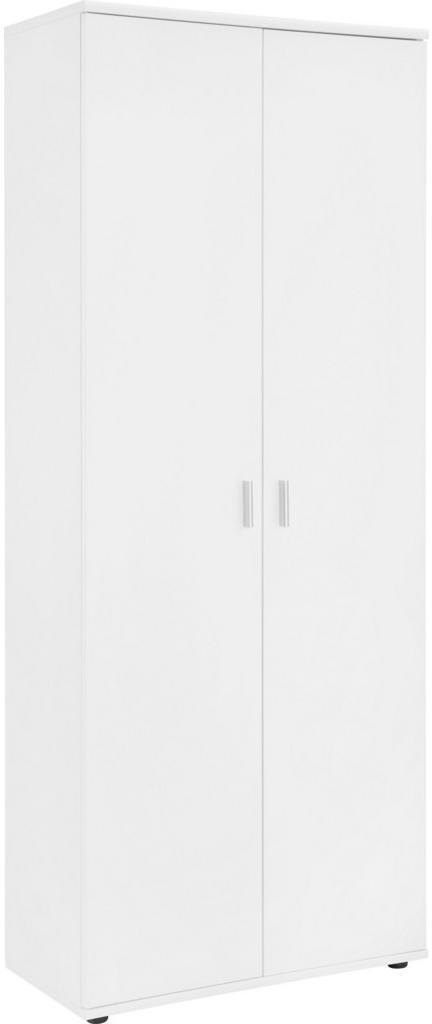 SKRINKA NA TOPÁNKY, biela, 69/176/34 cm - biela
