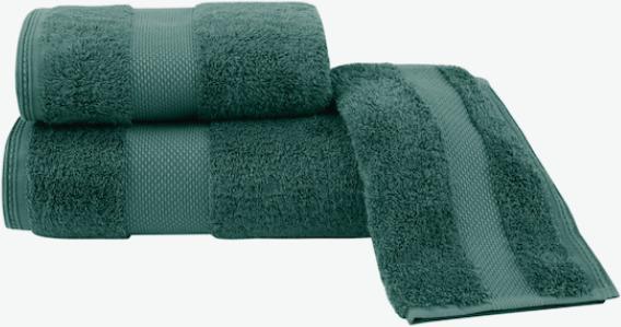 Soft Cotton Luxusné osušky DELUXE 75x150cm. Osuška s vysokou gramážou, pri ktorých platí pravidlo, že pojme 5x toľko vody, ako sama váži v suchom stave! Zelená