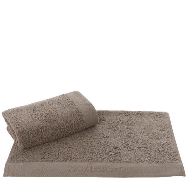 Soft Cotton Uterák LEAF 50 x 100 cm. Uterák LEAF s rozmermi 50 x 100 cm zo 100% česaná bavlna poskytuje záruku kvality materiálu, ktorá je ešte zosilnená antibakteriálnou ochranou. Hnedá