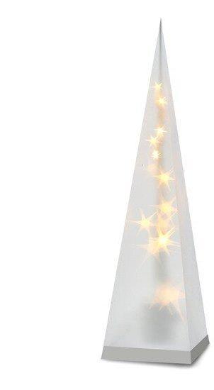 SOLIGHT 1V43 LED VIANOCNA PYRAMIDA, 3D EFEKT SVETLA, 45CM, 3XAA, TEPLA BIELA