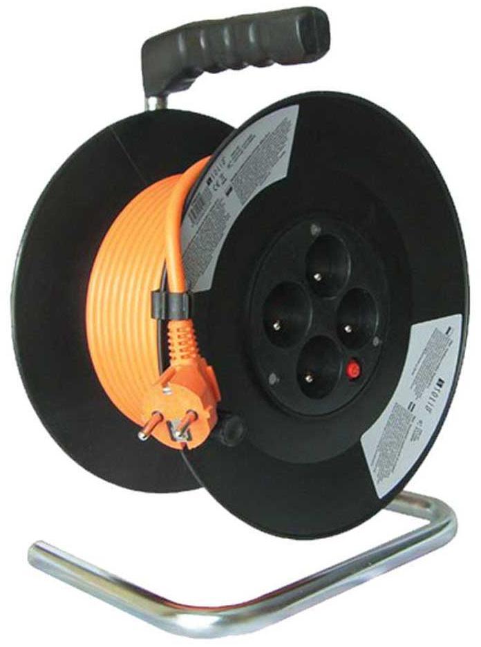 Solight Predlžovací kábel na bubne 4-zásuvkový 25m 07060 (PB03)