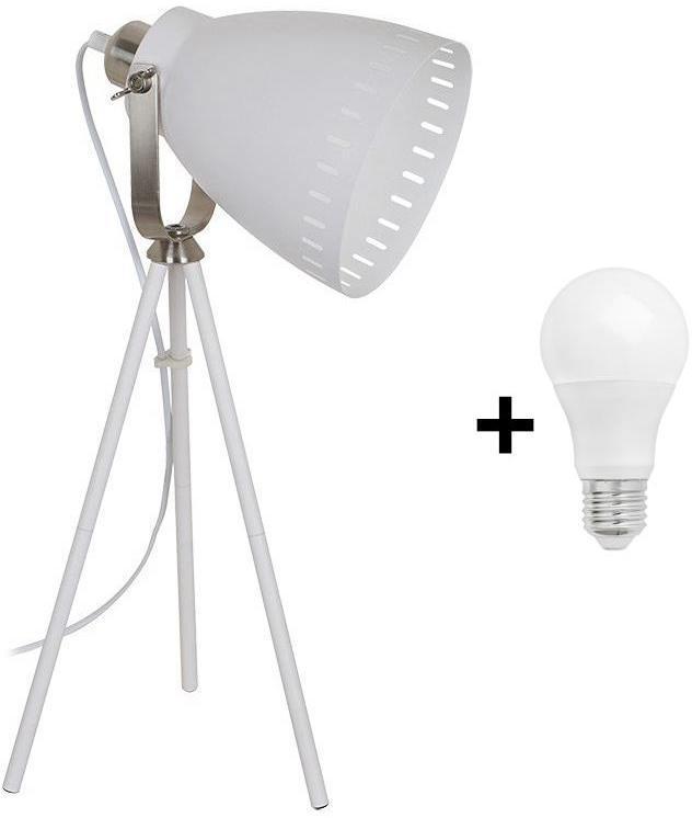 Solight WA002-W - LED Stolná lampa MILANO 1xE27/10W/230V biela 52cm