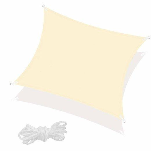 SPRINGOS Tieniaca plachta štvorec 400x400cm - svetlo béžová