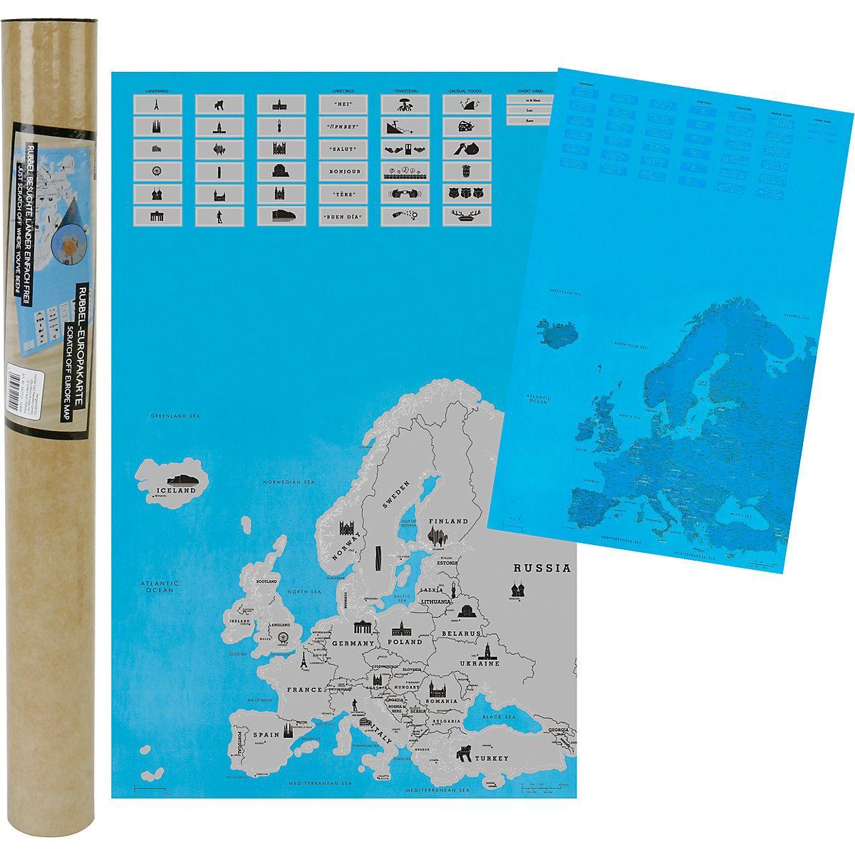 Stieracia mapa Európy MT7722, 45x70cm