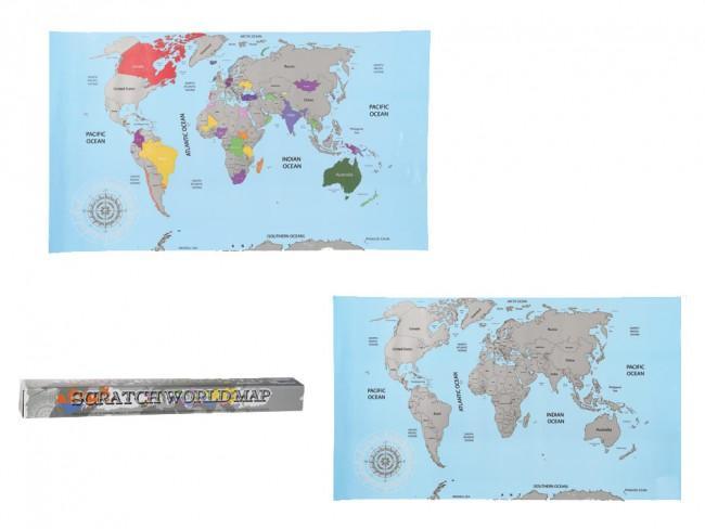 Stieracia mapa sveta 88x52 cm