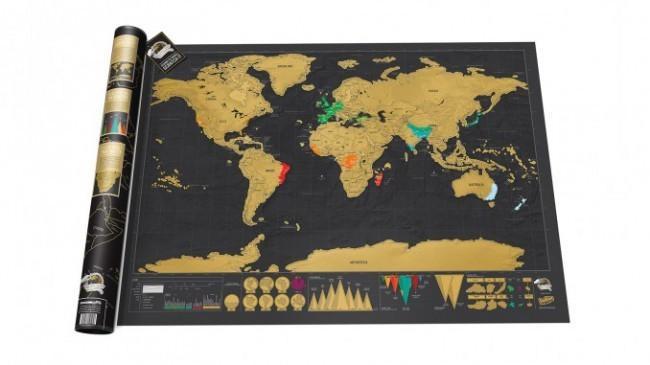 Stieracia mapa sveta Deluxe 83x60cm, GM4010