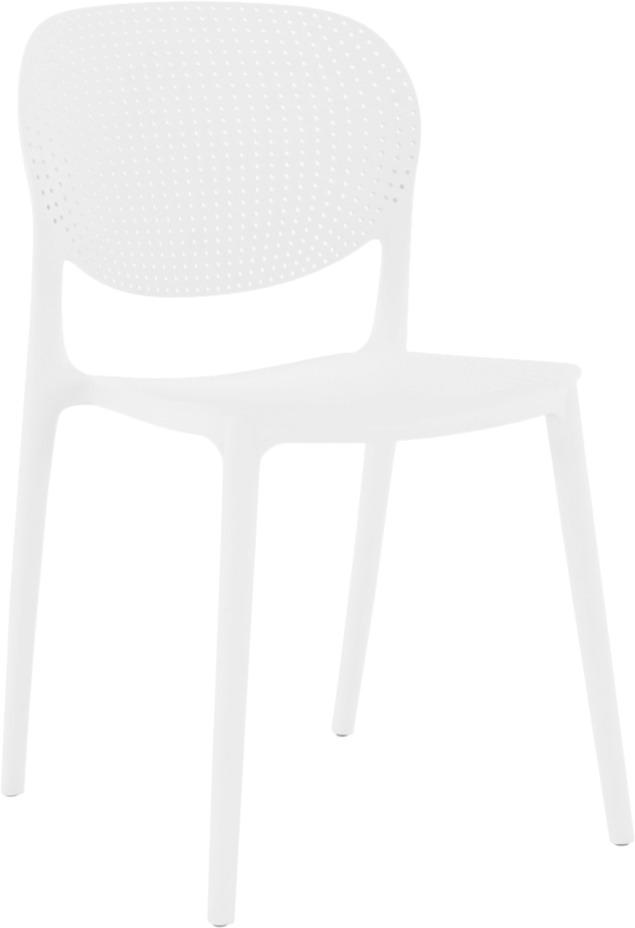Stohovateľná stolička, biela, FEDRA