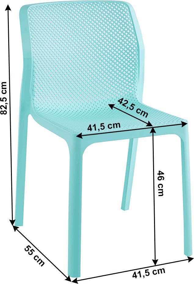 Stohovateľná stolička, mentolová/plast, LARKA