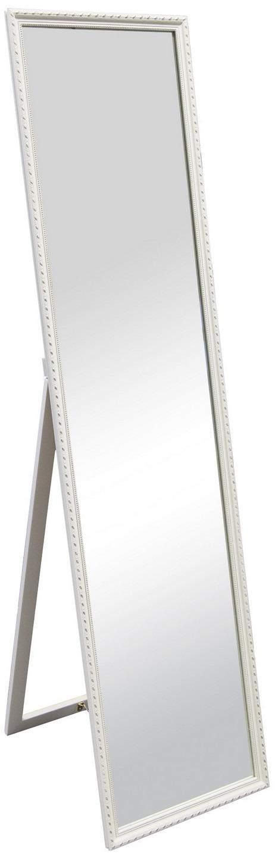 Stojace zrkadlo Lisa 34x160 cm, biele, ornamenty